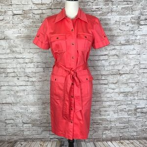 Chico's coral short sleeve jacket